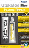 Quiksteel 17502EU-6+, 6x Plastic Repair, wit Incl. 3x grote flacon Quiksteel ontvetter, Voordeel-verpakking!_