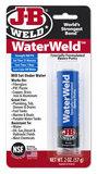 JB-Weld Waterweld art.nr:8277  kneedbaar 2-componenten epoxylijm, hardt zelf uit onder wat + ontvetter_