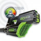 DEPA / Greenworks 80 Volt accu bladblazer GD80BL2AH, incl. 2AH Accu & Lader_