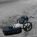 Lumag onkruidborstel machine WKB-300 met Benzinemotor, gratis beschermkap_