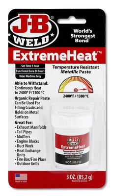 DEPA / JB-Weld ExtremeHeat, art.nr: 37901 koudlasmiddel voor extreem hoge temperaturen (1.300-Gr. Celsius) + Ontvetter!