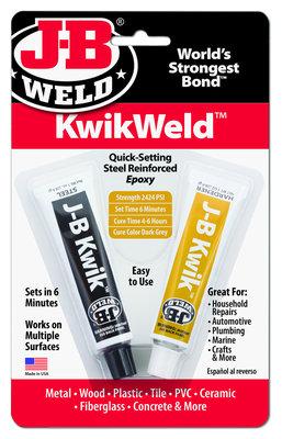 JB-Kwikweld, art. nr: 8276, 2x 28,4-Gr 2-componenten koudlasmiddel, snelle uitharding geleverd incl. ontvetter!