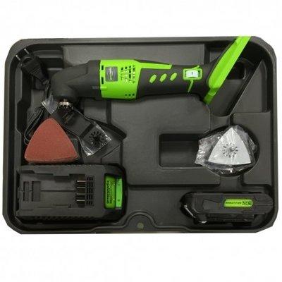 Greenworks 24 Volt Accu Multitool G24MTK2 Incl. 2AH Accu & Lader