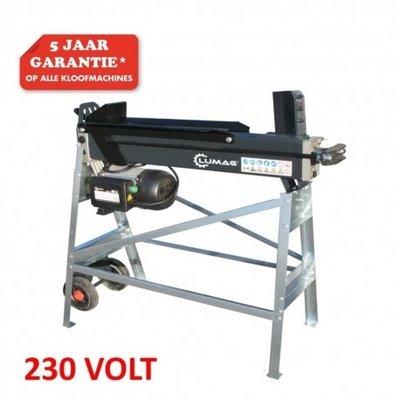 Hydraulische Houtkloofmachine type HOS5-up, 5-Ton op onderstel, 230V, horizontaal,