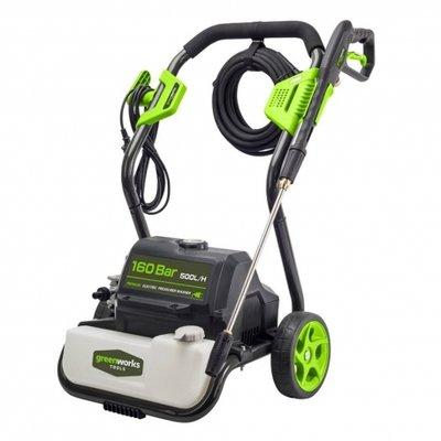 DEPA / Greenworks Hogedrukreiniger GPWG8, 160-Bar, 230V met Start/Stop en watergekoelde inductiemotor.