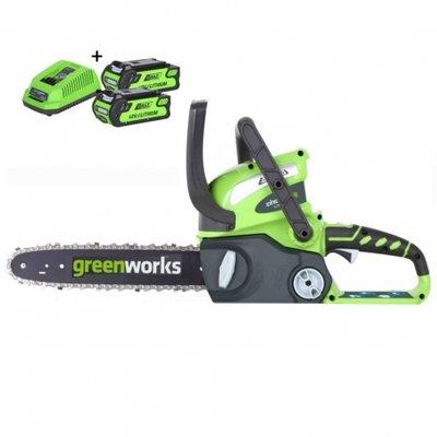 DEPA / Greenworks  40 Volt Accu Kettingzaag G40CS30K2 incl.  2-AH Accu & Lader