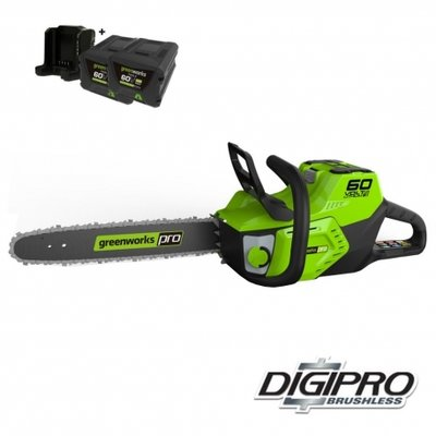 Depa / Greenworks 60 Volt accu kettingzaag GD60CS40K2X, Incl. 2x 2-AH Accu & Lader