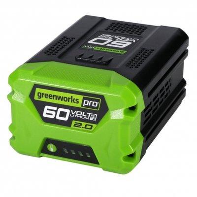 Greenworks 60 Volt Lithium Ion-accu G60B2, 2AH