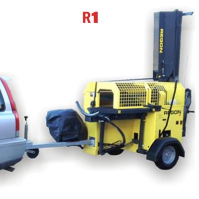 Hydraulische Hout Zaag-, Kloofmachine Regon R1 met onderstel en Benzinemotor