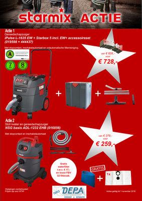 Starmix iPulse L-1635 EW + Starbox 5 Machine afzuiger + accessoireset.