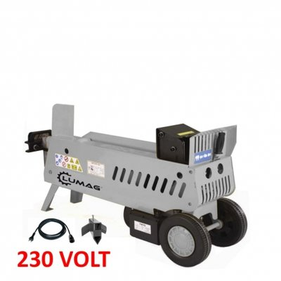 Hydraulische Houtkloofmachine type HOS-7ASET, 230V, 7-Ton splijtkracht.