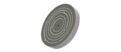 Polijstschijf, 150x50x14mm tbv polijsten gemaakt van speciaal sisal-katoendoek tbv hoogglans