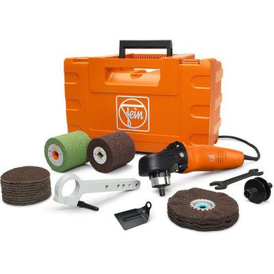 Fein WPO 14-25E INOX, startset in koffer, slijp-, Polijstmachine tbv oa. RVS incl. diverse polijstmaterialen