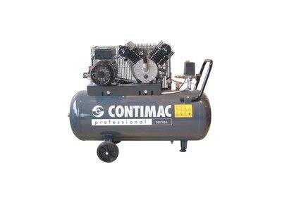 V-snaar aangedreven oliegesmeerde zuigercompressor, 100 liter ketel, voor vele toepassingen