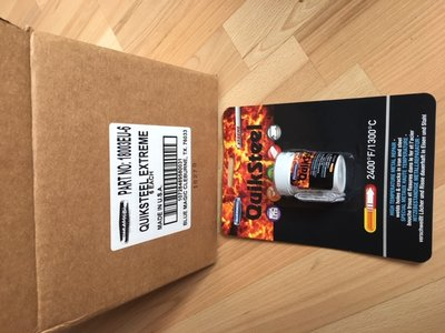 Quiksteel 18003EU-6 voordeelverpakking Extreme, 1.300-Gr. Celsius repair pasta.