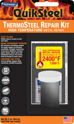 Quiksteel 18003Tri, Extreme-Heat, tot 1.300-Gr. Celsius repair pasta op blister.