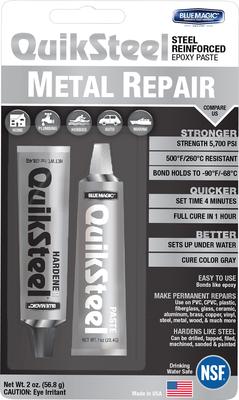 17002EU, Blister Quiksteel Steel Repair, vloeibaar staal te gebruiken op alle metalen
