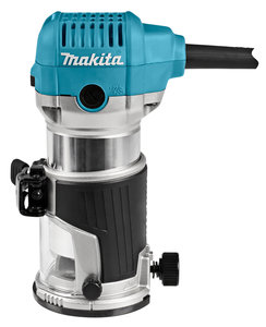 Makita RT0700CX3J 230 V Boven- en kantenfrees Met diverse voeten, in Mbox