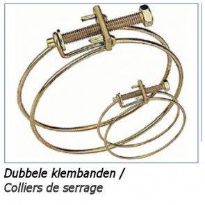 Dubbele draadklem tbv 60mm zuigslangen