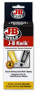 JB-Weld Industial size Kwikweld, art.nr: 8270, 2x141,8-Gr. sneldrogend 2-componenten koudlasmiddel + Ontvetter