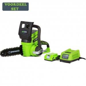 Greenworks 24 Volt Accu Kettingzaag G24CS25K2 incl. 2AH Accu & Lader