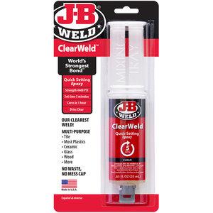 JB-Weld Clear Weld, art.nr: 92801 25-ml, zeer sterke en transparante 2-componentenlijm