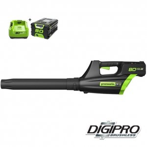 DEPA / Greenworks 80 Volt accu bladblazer GD80BL2AH, incl. 2AH Accu & Lader