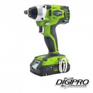 Greenworks 24 Volt Accu Slagmoer-schroefmachine GD24IW, 327-NM koppel met Digipro motor