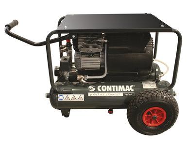 Compacte bouwcompressor, traagdraaiend, oliegesmeerd met 2 cilinders in V-formatie.