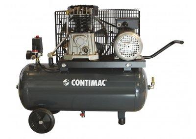 V-snaar aangedreven oliegesmeerde zuigercompressor, 50 liter ketel, voor vele toepassingen