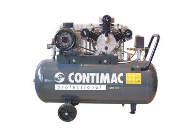 V-snaar aangedreven 3-cilinder oliegesmeerde zuigercompressor, 100 liter ketel, voor vele toepassingen