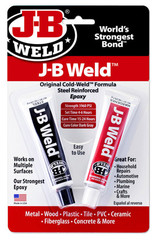 JB-Weld Autoweld, art.nr:8265+, 28,4Gr. 2-componenten koudlasmiddel+JB-ontvetter.